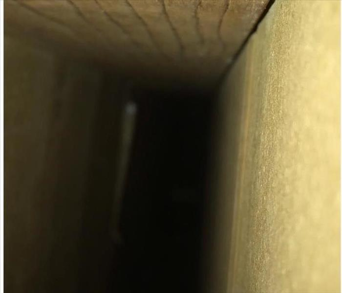 image of the same duct vent fully cleaned with no signs of build-up