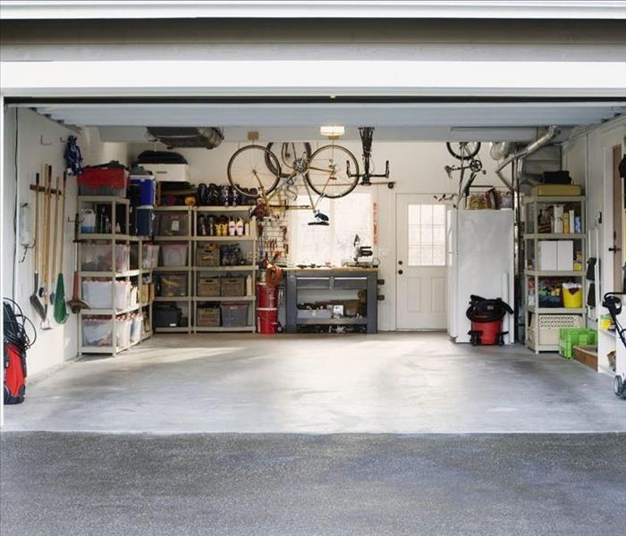 image of a clean and organized looking garage after it has been cleaned