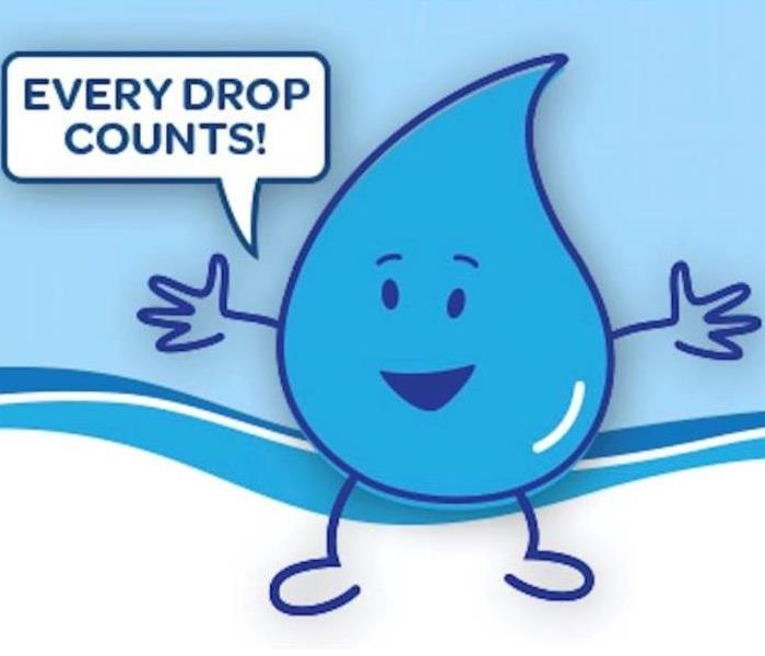 Water drop saying every drop counts