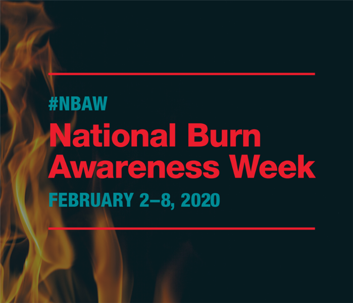 flames in the background with the text 'nation burn awareness week'